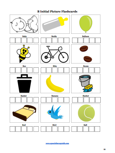 summer speech therapy flashcards