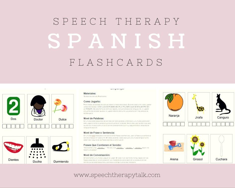 speech therapy Spanish flashcards