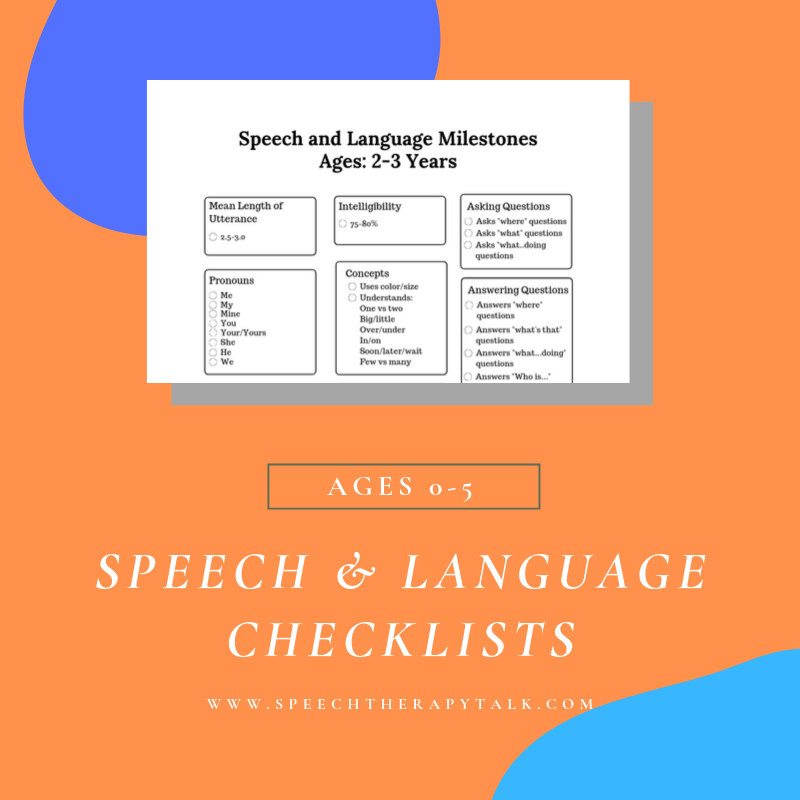 Speech Therapy Progress Checklists