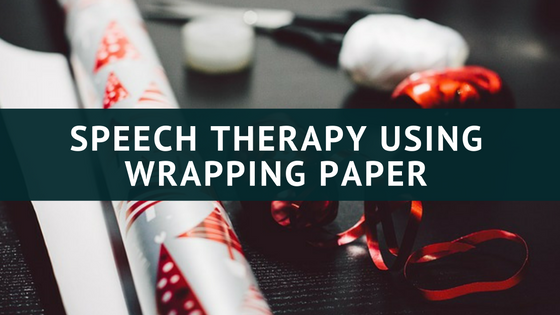 speech therapy wrapping paper ideas