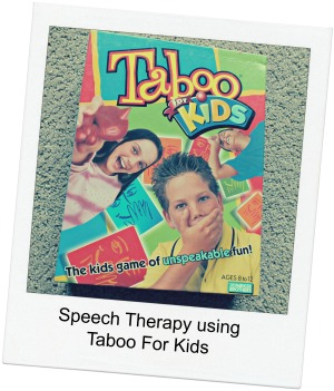 Speech Therapy Materials Using Taboo