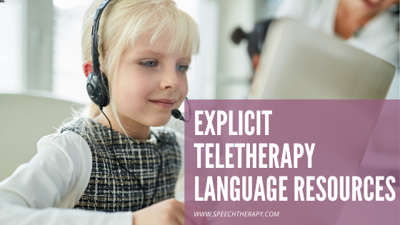 Teletherapy Language Resources For Speech Therapy