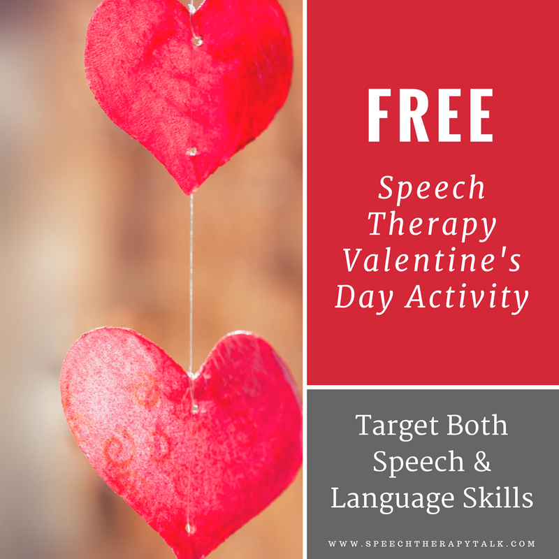 speech therapy valentines day