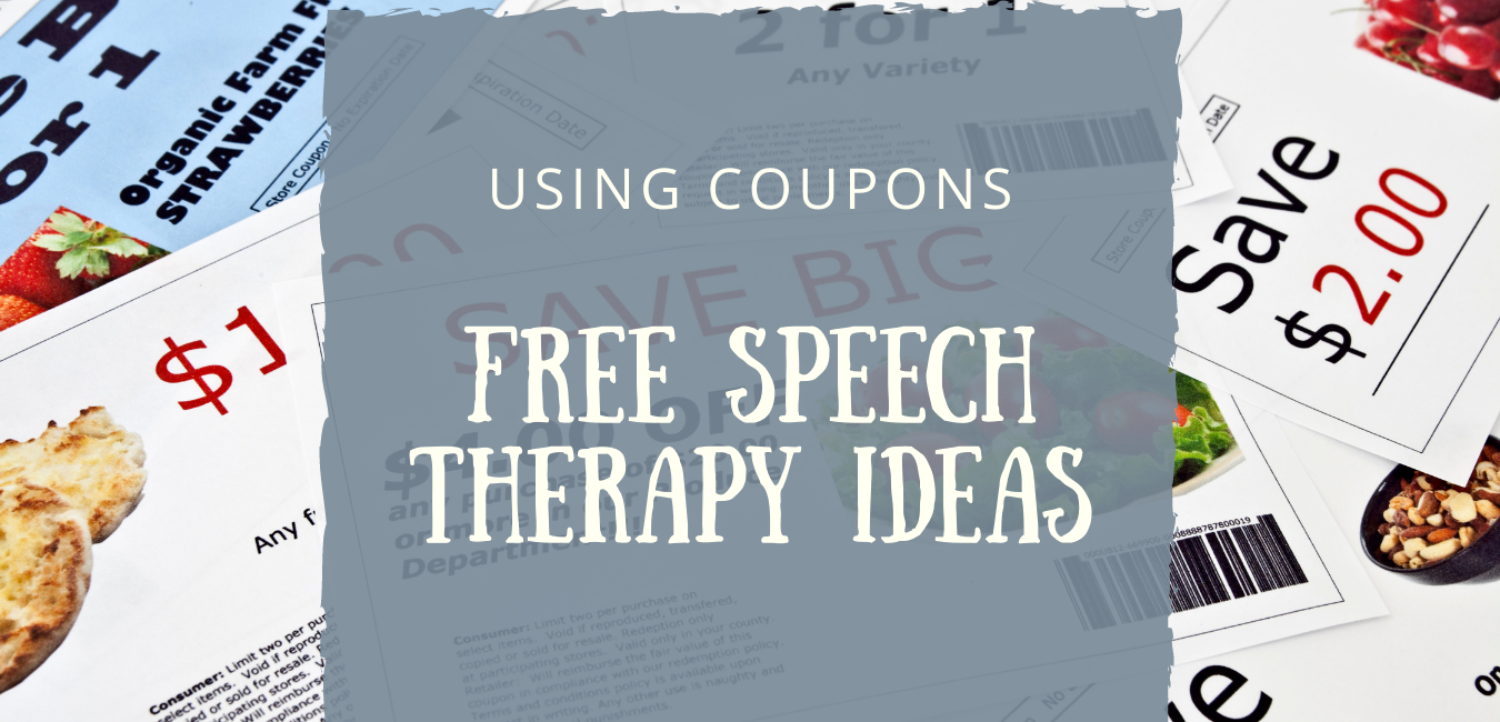 Speech Therapy Coupons Ideas