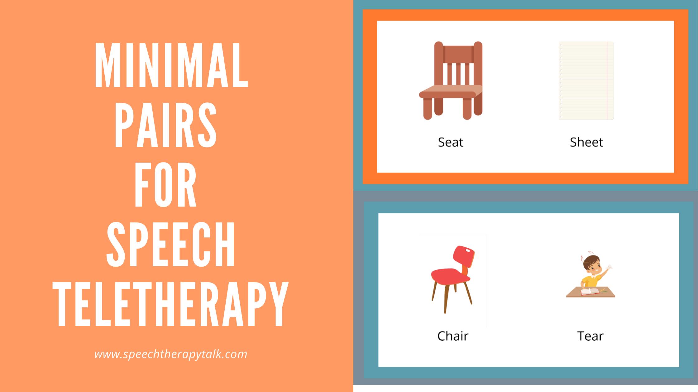 minimal pairs speech therapy