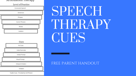 Speech Therapy Cues