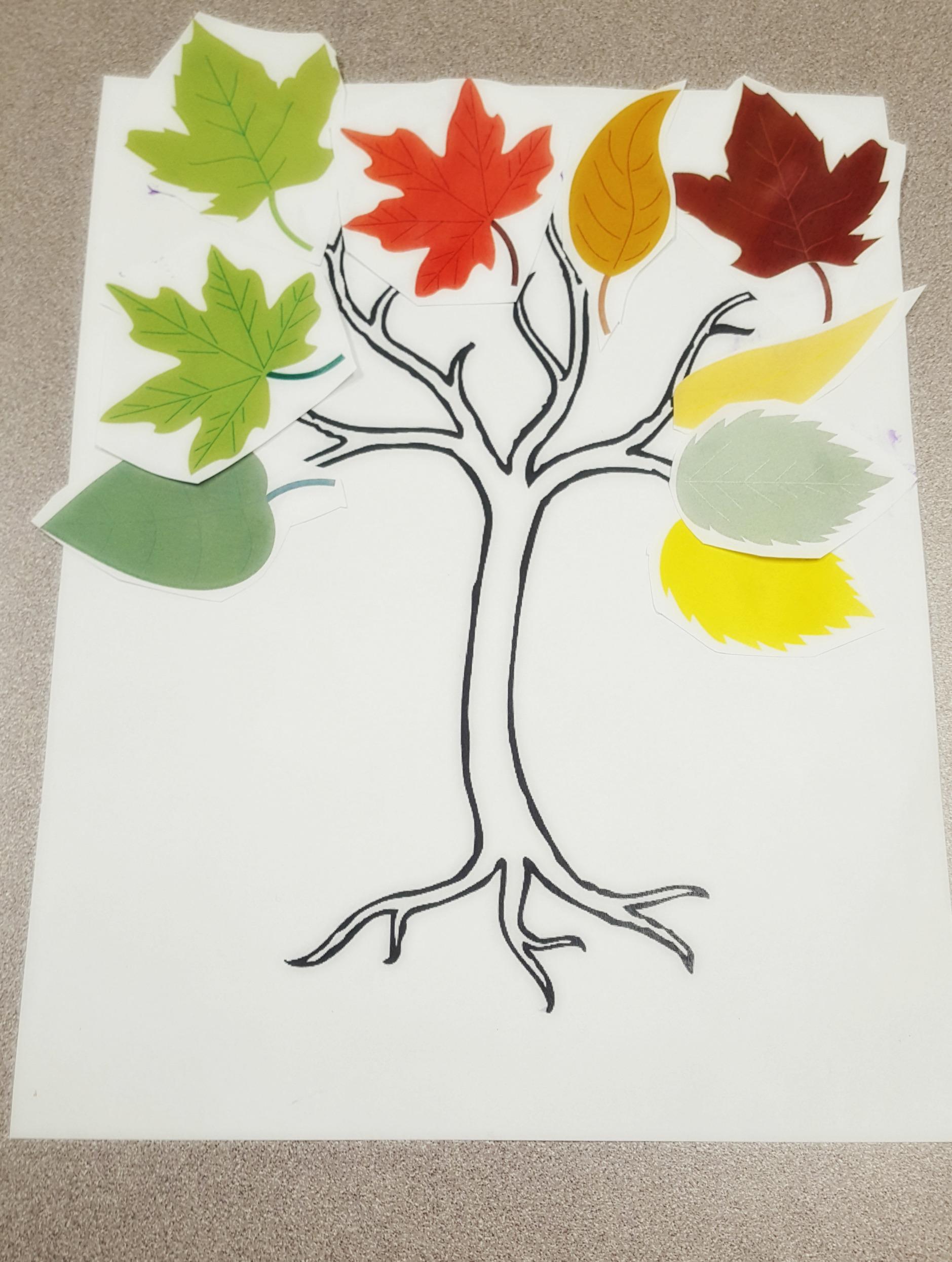 speech therapy fall tree