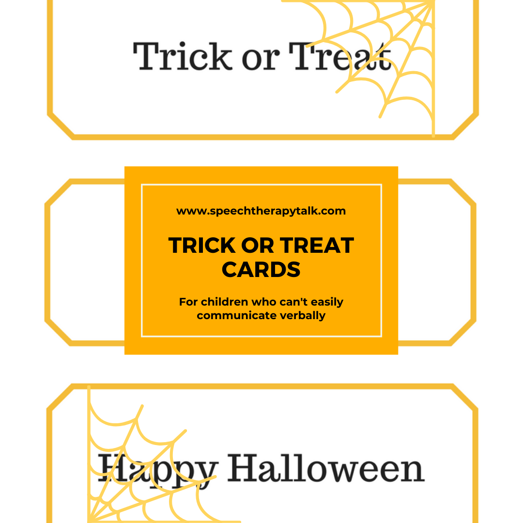 trick or treat cards for non-verbal kids
