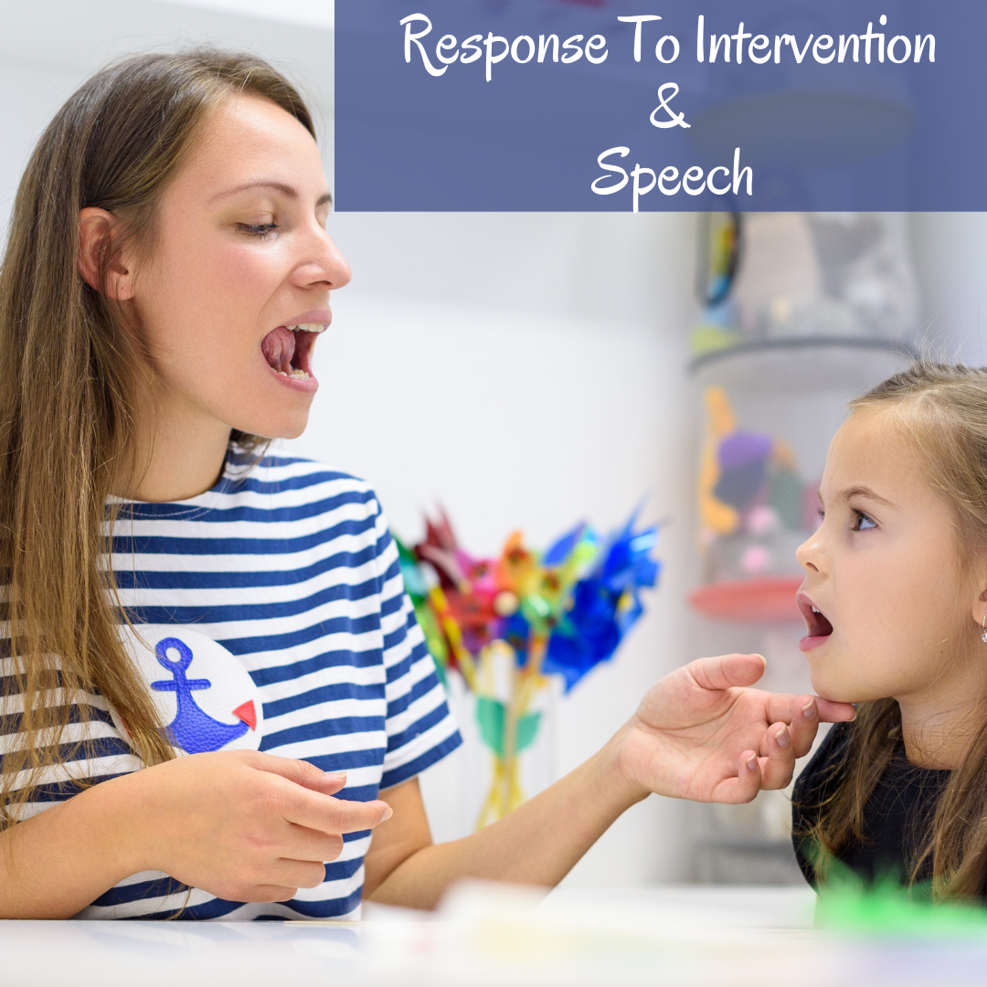 Reponse To Intervention Speech Therapy