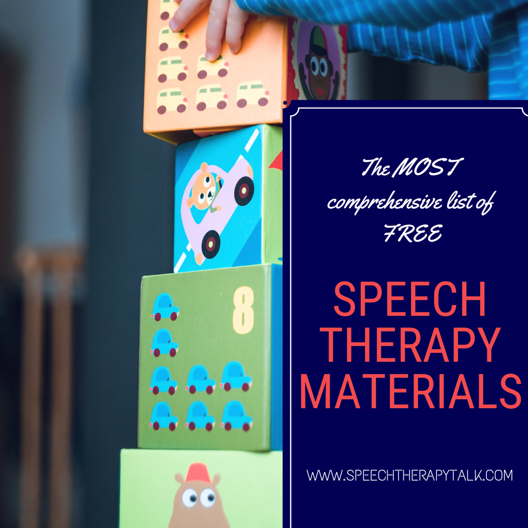 Speech Language Therapy Materials